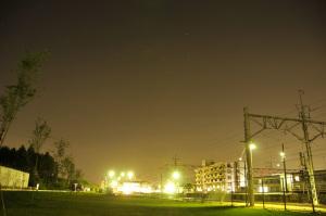 星空に輝く駅
